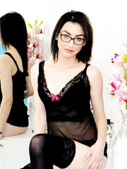 Bespectacled brunette Beatrice__